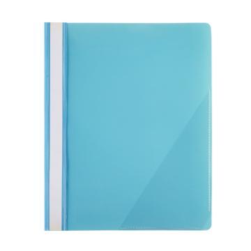 齐心 LW320 办公必备大容量报告夹 A4 2孔装订式 100张 蓝 单个