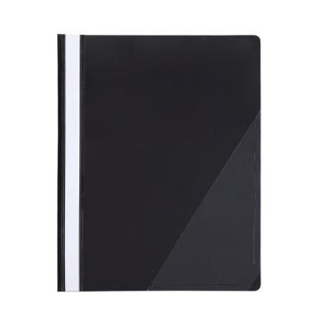 齐心 办公必备大容量报告夹,LW320 A4 2孔装订式 100张 黑 单个