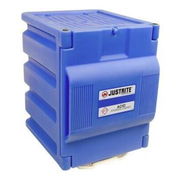 JUSTRITE/杰斯瑞特 蓝色聚乙烯强腐蚀性液体存储柜,容量4升×2瓶,单门/手动,工作台式,24080