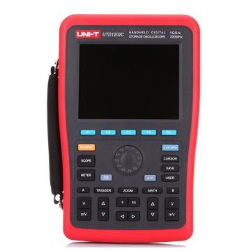 优利德/UNI-T 手持式数字存储示波器,200MHz,双通道,UTD1202C