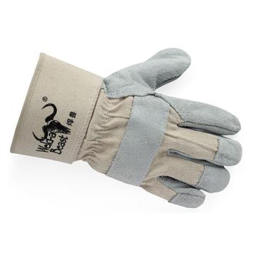 焊兽 半皮手套,11200,牛二层半皮手套