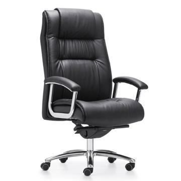 办公椅,尺寸118*70*78 黑牛皮(散件不含安装)