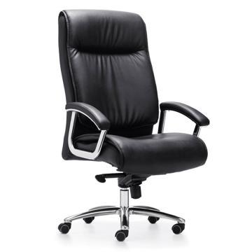 办公椅,尺寸125*70*73 黑牛皮(散件不含安装)