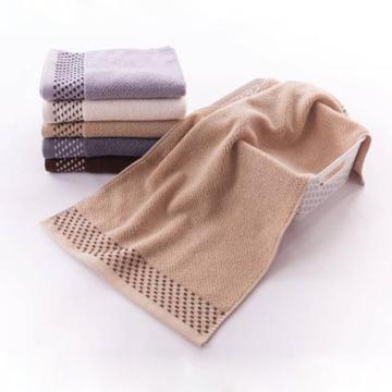 金號/依詩家 純棉提緞繡面巾,120g 70*34cm SK/1083