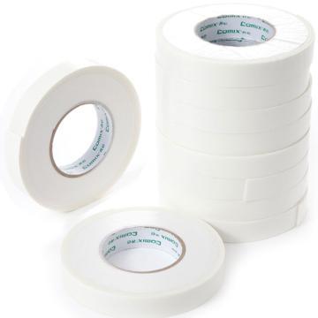 齐心 PM2405-10 双面泡棉胶带 10卷/筒 白