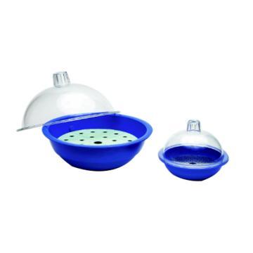 NALGENE干燥器,250mm聚碳酸酯盖,蓝色聚丙烯主体,无活塞