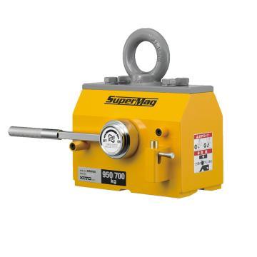 KITO磁铁吊 扁钢与圆钢起吊,最大工作载荷(kg):扁钢950,圆钢700(¢300),KRM95