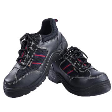 大盾黑色低帮牛皮防砸、防静电、防刺安全鞋,尺码:35(同型号合计最小起订量10双)