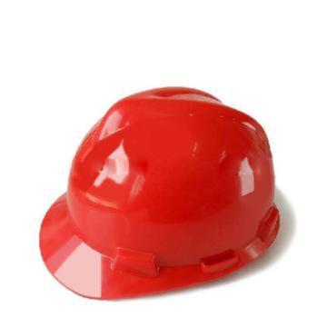 MSA 10172892 V-Gard ABS标准安全帽,红(超爱戴),正面印国电logo(国电定制款)同系列30顶起订