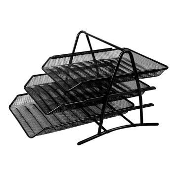 得力文件盘, 9181 网状三层(黑)