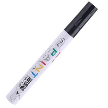得力 记号笔 油性记号笔,S558黑色 单支