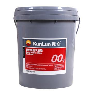 昆仑00号通用锂基脂,15KG