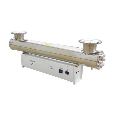 紫外线消毒器,口径DN65,功率3*75W,进出口管中心距70cm