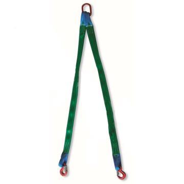多来劲,双腿扁平吊装带组合吊具,1.4T×2m(总长),80级眼形带舌吊钩