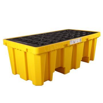 SYSBEL 聚乙烯两桶盛漏托盘(加高版),盛漏量58加仑/220升/承重2000KG,双向操作 SPP102H