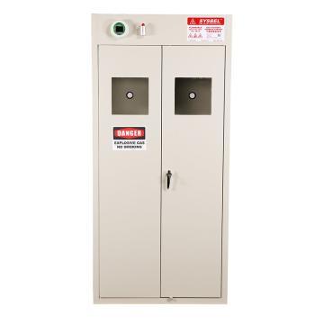 SYSBEL 两瓶型智能气瓶存储柜(自带风扇) 双门/手动,含声光报警含电源适配器220V转24V WA710102
