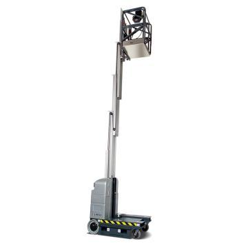 JLG MVL系列自行直立桅柱式高空作业平台,平台最大高度(m):4.71 额定载重(kg):230,15MVL