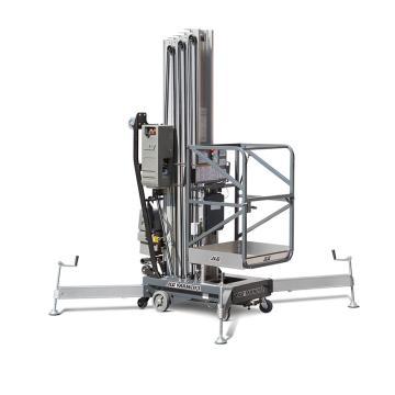 JLG AM系列手推直立桅柱式高空作业平台,平台最大高度(m):12.32 额定载重(kg):136,41AM