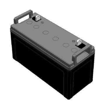 松下Panasonic 半阻燃蓄電池,LC-Y12100