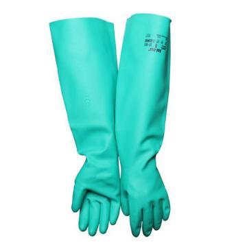 安思尔Ansell 丁腈防化手套,37-185-8,直戴式 厚度0.56mm 长度46cm