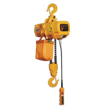 起泽环链电动葫芦 固定式, 380V HHBD-3T*3米(双链) 3.4M/min