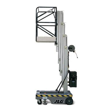 JLG AM系列手推直立桅柱式高空作业平台,平台最大高度(m):5.82 额定载重(kg):159 无支腿,19AMI