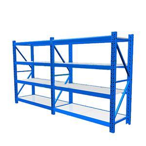 轻型货架主架,100kg,尺寸(长*宽*高mm):1200*500*2000,4层,蓝色 ,安装费另询