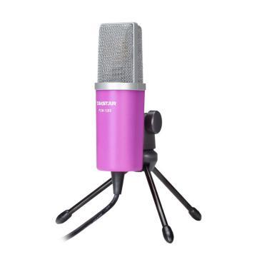 得胜(Takstar) 网络K歌麦克风,电容电脑K歌话筒录音 嫣红色 PCM-1200 单位:套
