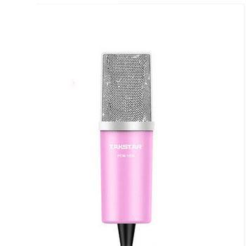 得胜(Takstar) 网络K歌麦克风,电容电脑K歌话筒录音 粉色 PCM-1200 单位:套