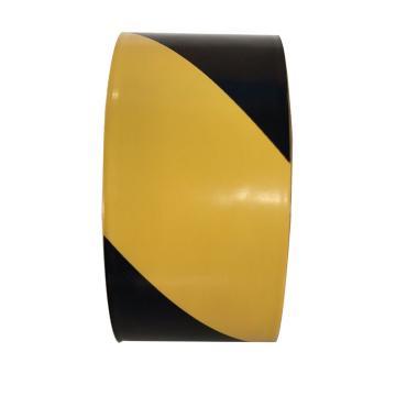 地面警示胶带,48mm×18m,黄/黑