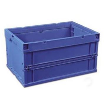 环球 可折叠周转箱,尺寸(mm):650*440*243,蓝色,不含箱盖