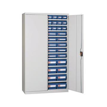 环球 有门零件盒铁柜,宽*深*高(mm):1000*450*1800,含64个PP零件盒