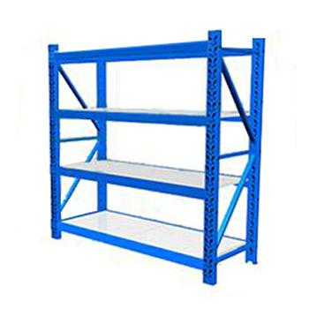 中型货架主架,200kg,尺寸(长*宽*高mm):2000*600*2000,4层,蓝色 ,安装费另询