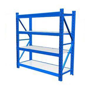 轻型货架主架,100kg,尺寸(长*宽*高mm):1200*400*2000,4层,蓝色 ,安装费另询