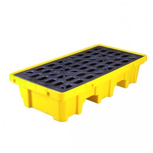 SYSBEL聚乙烯盛漏托盘,两桶型,适用叉车双向操作,SPP102(SPP202升级版)