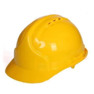9999PE安全帽,有孔,黄