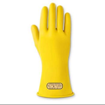 安思尔Ansell 绝缘手套E013Y,00级,工作电压500V,黄色,尺码:8