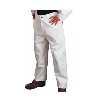 威特仕 焊接工作裤,33-9500-XXL,白色帆布工作裤