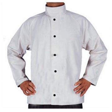 威特仕 焊接防护服,33-8167-XL,白色帆布上身工作服