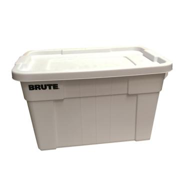 乐柏美 BRUTE大型搬运箱连盖子,白色,外形尺寸(mm):708X441X384,容积(L):75.7