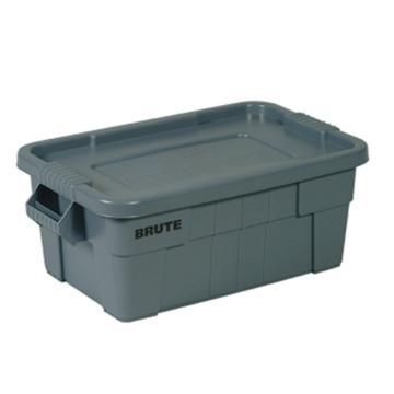 乐柏美 BRUTE大型搬运箱连盖子,灰色,外形尺寸(mm):708X419X272,容积(L):53