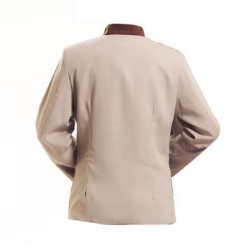 西域推荐 长袖保洁制服,长袖米色XXXL+黑色裤子XL