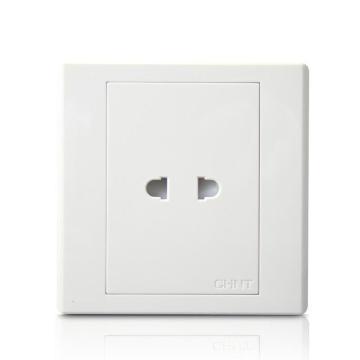 正泰 NEW7S系列一位两极插座10A,NEW7-S10200 白色