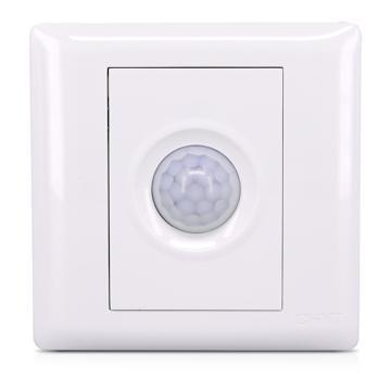 正泰 NEW7S系列一位红外感应延时开关(300W),NEW7-S31110 白色
