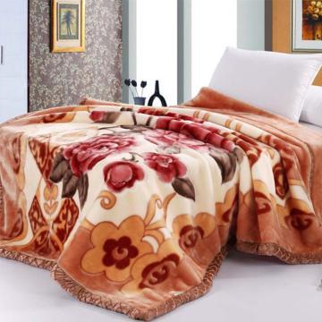 毛毯,乐莱拉舍尔毛毯180*220,6斤 花语-驼