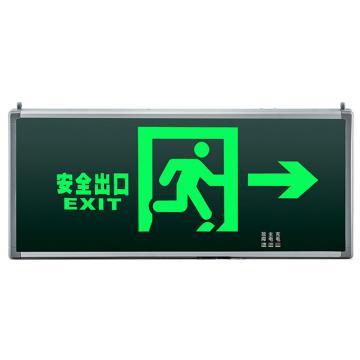 π拿斯特 消防应急标志灯,后出线,铝材边,单面,安全出口右,M-BLZD-1LROEⅠ5WCAB(P1407)