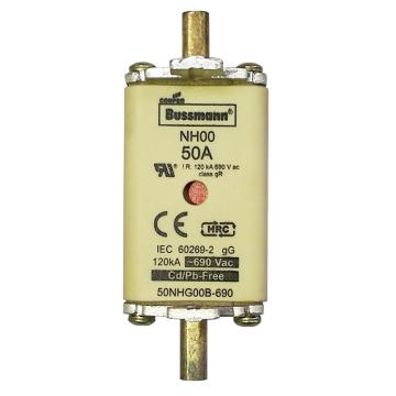 Bussmann 低压熔断器/NH系列熔断器,50NHG00B-690