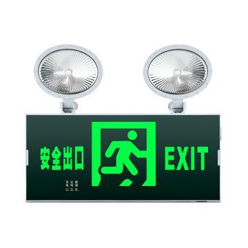 π拿斯特 消防应急标志灯 防火塑料超窄边框照明标志灯 自带三线插头 安全出口, N-ZBLZD-1LROEⅠ12WFAO (P1730-A)