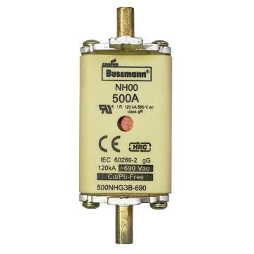 Bussmann 低压熔断器/NH系列熔断器,500NHG3B-690
