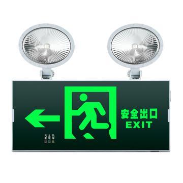 π拿斯特 消防应急标志灯 防火塑料超窄边框照明标志灯 自带强启功能 安全出口左, N-ZBLZD-1LROEⅠ12WFAO (P1728)